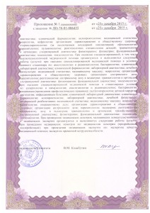 Приложение N1 к лицензии № ЛО-78-01-006455 (оборот)