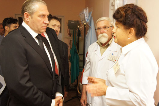 Встреча главного инспектора В.А. Миненко с главным врачом ДГБ № 22 Г.С. Мельниковой